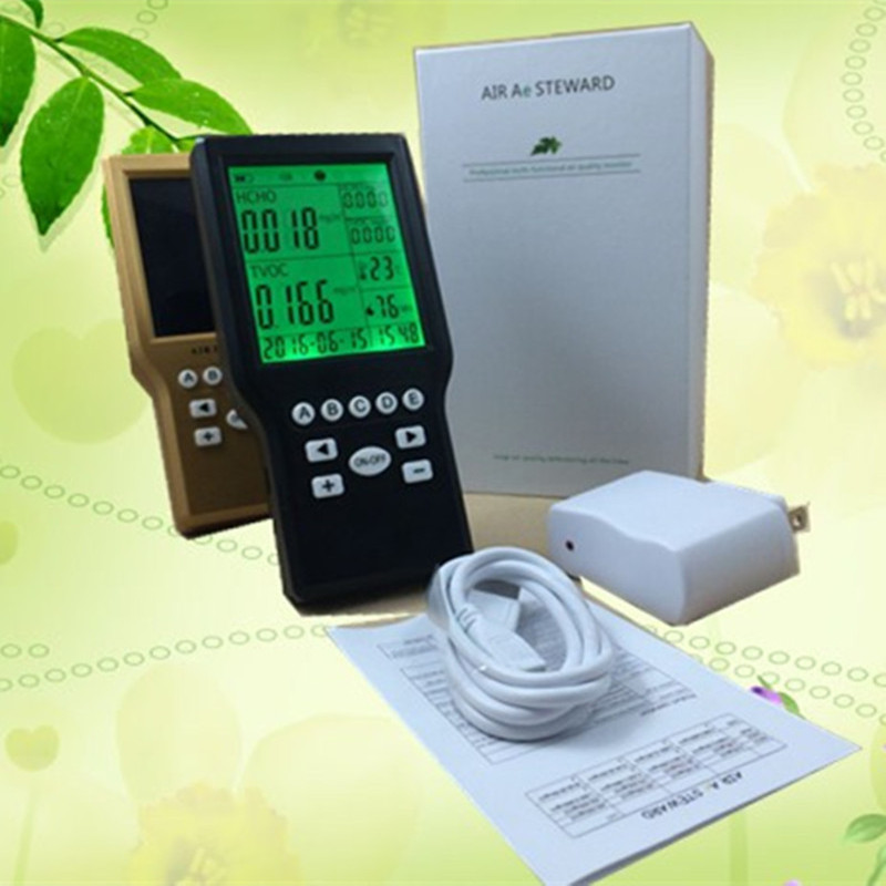 Free shipping home use JSM-131S multi  Air Quality  TVOC Formaldehyde Detector PM2.5PM10dust meter from OHMEKA  free shipping jsm 131s formaldehyde home gas leak detector