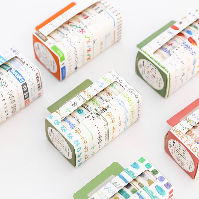 10 Pcs/Pack Minimalist Slim Washi Tape Art Tape DIY Diary Album Decoration Paper Tape 4pcs lot the renaissance of literature and art series diary album diy ornament decorative paper tape masking tape washi tape