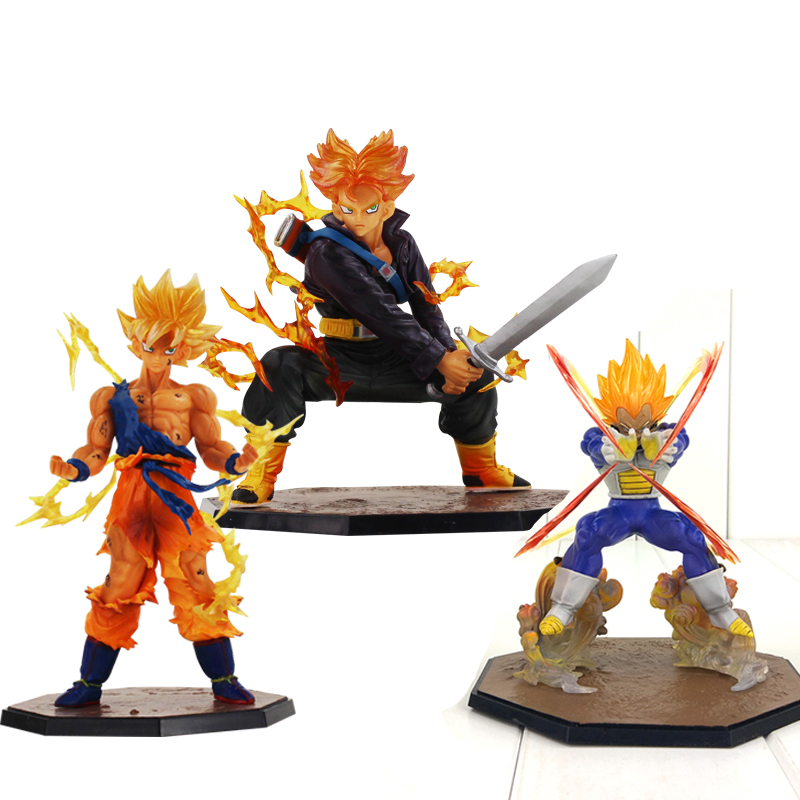 Dragon Ball Z Figures Son Goku Vegeta Trunks Super Saiyan Figuarts Zero Anime DBZ Collectible Model Toys dragon ball z son goku vs broly super saiyan pvc action figures dragon ball z anime collectible model toy set dbz