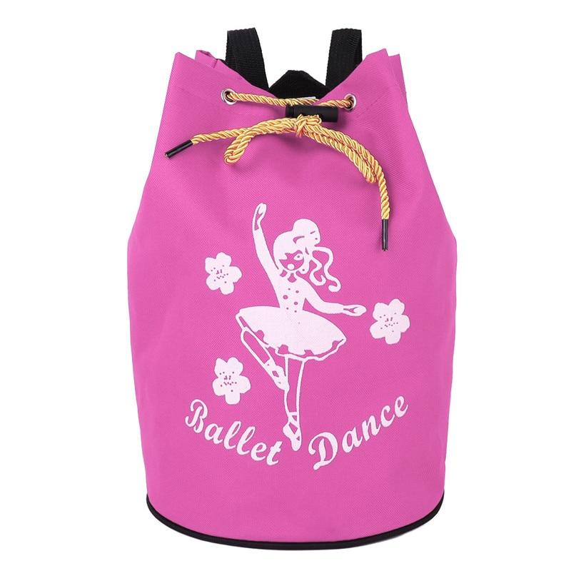 Girls Drawstring Ballet Dance Bag Lovely Students School Backpack Dancing Girl Print Shoulder Bag Kids Ballet Bags School Bags