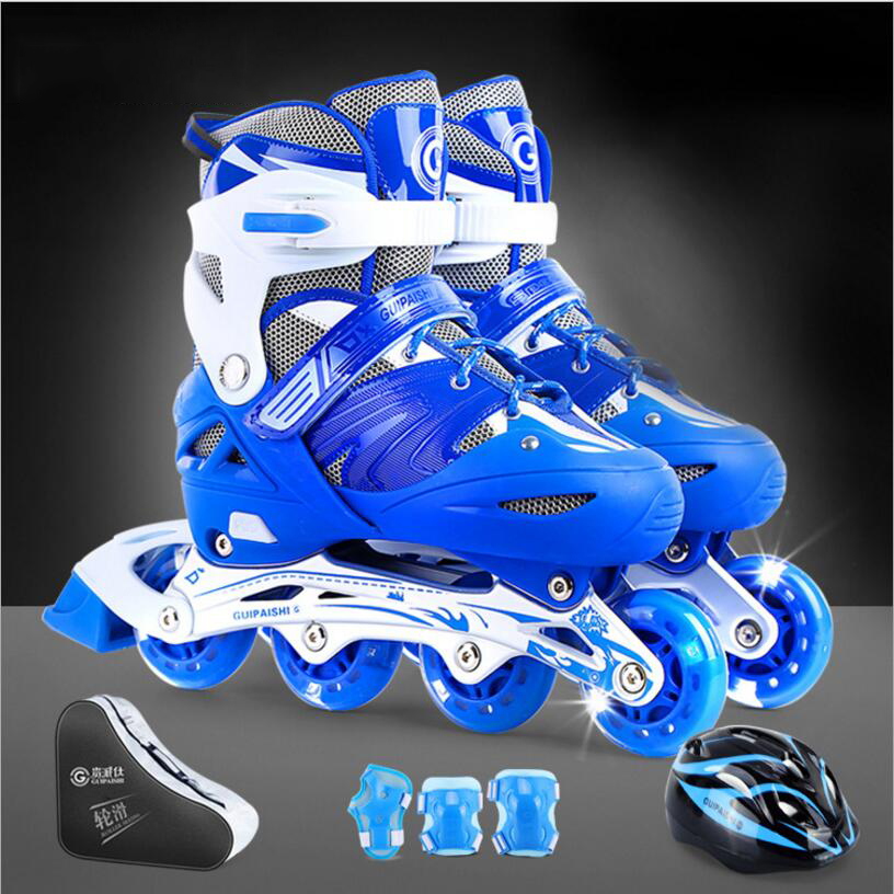High qulity children roller skates shoes comfortable and soft shoes with size S/M/L Breathable and Wearable Skate Shoes kelme 2016 new children sport running shoes football boots synthetic leather broken nail kids skid wearable shoes breathable 49