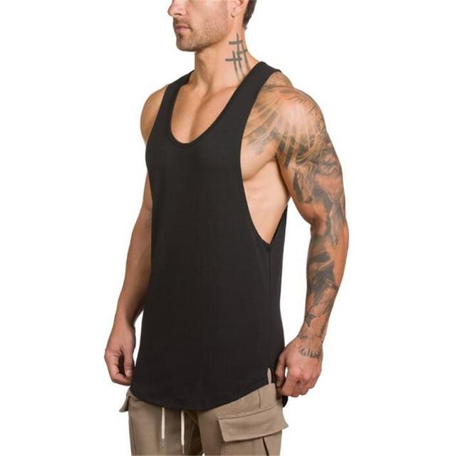 Brand gyms clothing Brand singlet canotte bodybuilding stringer tank top men fitness shirt muscle guys sleeveless vest Tanktop 1