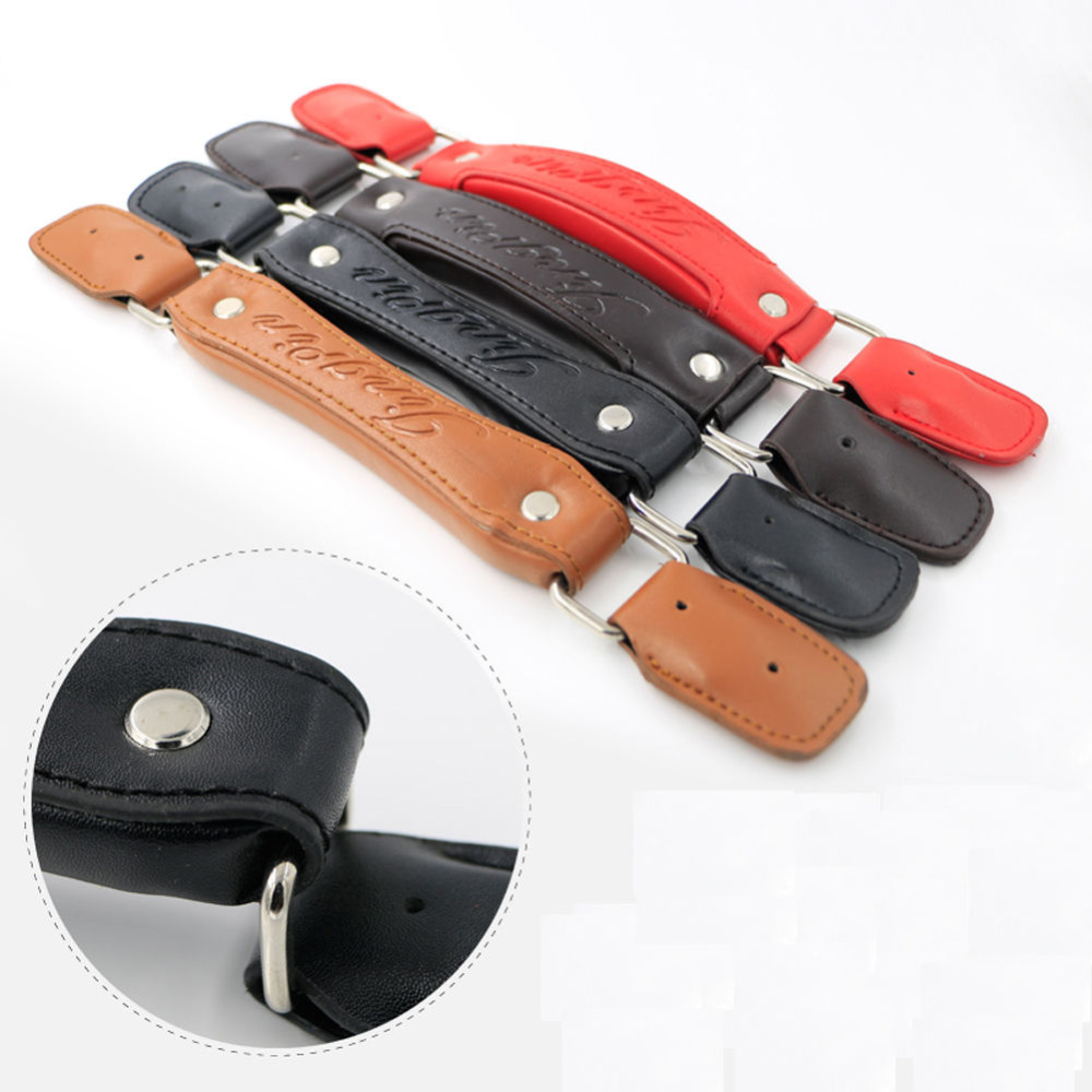 Luggage Replacement PU Leather Handle Fix Holders Suitcase Box Repair Accessories Pull Carry Strap