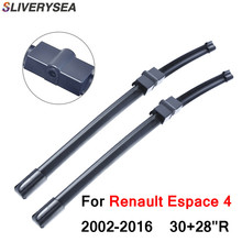 SLIVERYSEA 1Pair Windscreen Wiper Blade For Renault espace IV 2002 Onwards Soft Rubber Windshield Car Accessories
