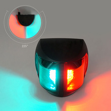 12 V مركبة بحرية LED أضواء الملاحة 2 W ثنائية اللون الأحمر الأخضر البلاستيك ميناء يمنى ضوء