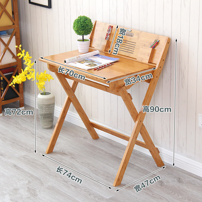 Modern Bamboo Computer Desk Folding Table Furniture Children Study For Kids Foldable Compact Laptop In Desks From