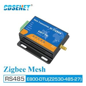 Image 1 - CC2530 Zigbee Module RS485 2.4GHz 500mW Mesh Network CDSENET E800 DTU(Z2530 485 27) Ad Hoc Network 2.4GHz Zigbee rf Transceiver