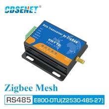 CC2530 Zigbee โมดูล RS485 2.4GHz 500mW เครือข่ายตาข่าย CDSENET E800 DTU (Z2530 485 27) ad Hoc Network 2.4GHz Zigbee rf Transceiver