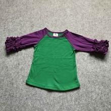 b185febac free shipping baby girls mermaid raglans clothes kids icing ruffle raglan  tops shirts girls casual tops