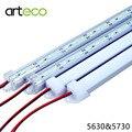 5 Unids/lote 50 CM DC12V LLEVÓ la luz del Bar 5730 5630 Con cubierta de la PC 5730 LED de luz 5630 LED de la tira dura Rígida Luz Del Gabinete de Pared luz