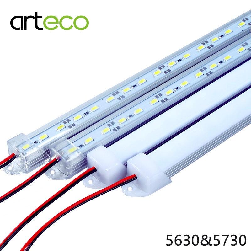 5PCS/Lot 50CM DC12V LED Bar light 5730 5630 With PC cover 5730 LED Rigid light 5630 LED hard strip Cabinet Light Wall Light