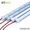 5PCS/Lot 50CM DC12V LED Bar light 5730 5630 With PC cover 5730 LED Rigid light 5630 LED hard strip Cabinet Light Wall Light