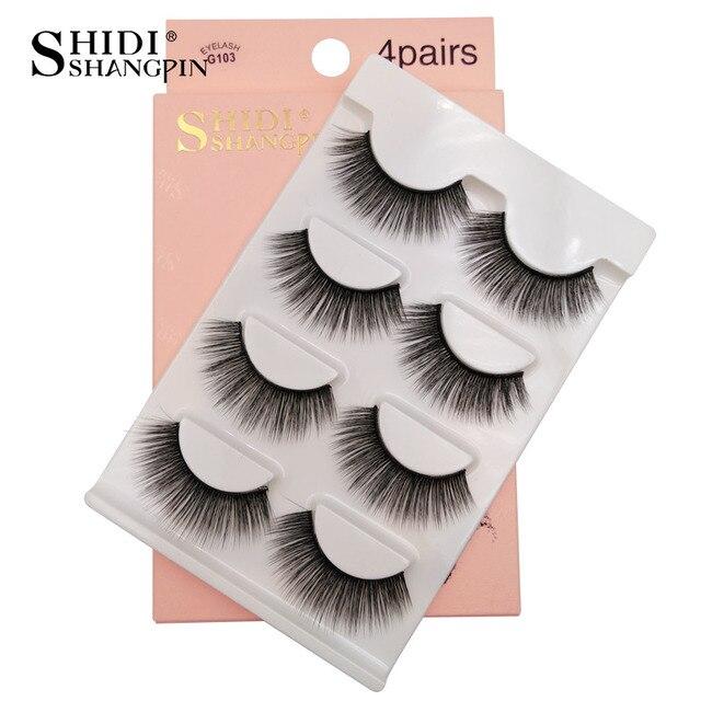4 paires de faux cil 3D Faux Cils adhésifs Bella Risse https://bellarissecoiffure.ch