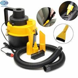 12 v 75 w portátil molhado/seco mini vac aspirador de pó alta potência kit inflator turbo handheld coletor poeira para a loja do carro