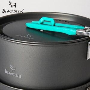Image 4 - BLACKDEER Outdoor Camping Tableware Set Backpacking Picnic 2 Pot 1 Frypan 1 Kettle Alumina Durable Cookware  Folding Cooking Set