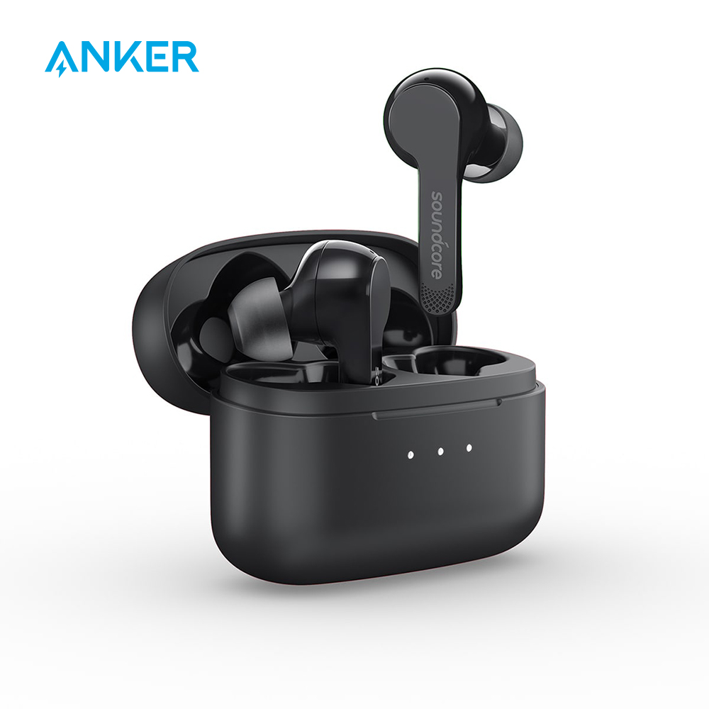 Soundcore Wireless Earphones,Anker Liberty Air Bluetooth 5,Touch Control Earbuds, Graphene Enhance Sound Noise-Cancelling Micro