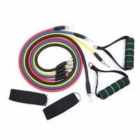 11 Faixas da Resistência Da Aptidão Látex Exercício Equipamentos de Ginástica Pilates pçs/set Expansores de Tubos de Puxar Corda de Treinamento Prático