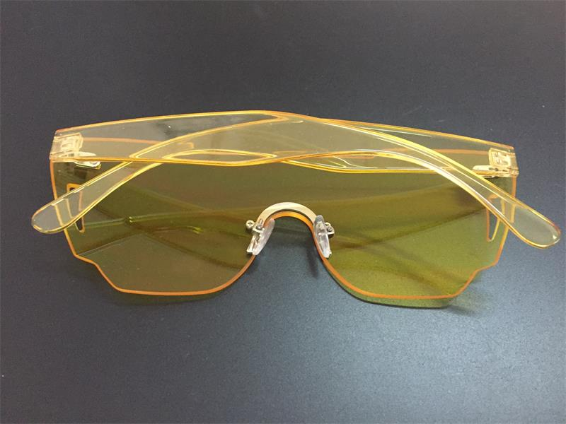 HTB1PLF7RpXXXXX0XpXXq6xXFXXXI - Candy Color Sunglasses Flat Top Rimless Sunglasses