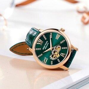 Image 4 - Reef Montre en cuir pour femmes, nouveau Design, cadran mécanique or Rose, vert, bracelet RGA1580, 2020