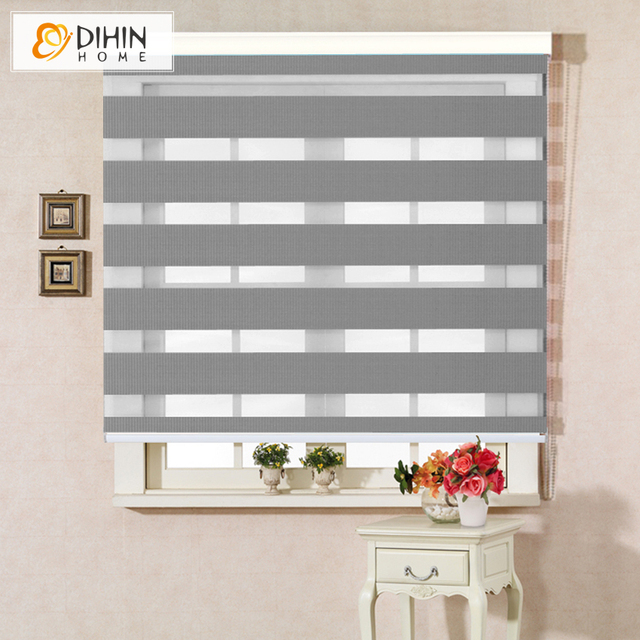 New Arrival High Quality Modern Zebra Blinds Rollor Blind Curtain Half Blackout Curtains Custom Made W100cmxh100cm