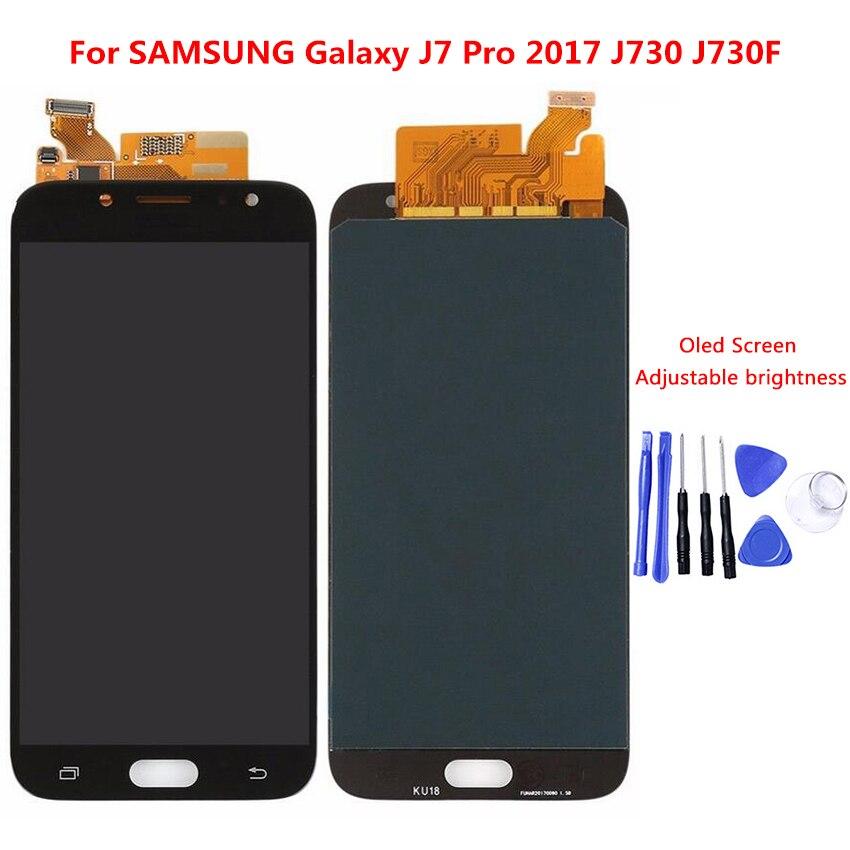 Pour Samsung Galaxy J7 Pro 2017 J730 J730F écran LCD écran tactile numériseur assemblée avec réglage de la luminosité LCD remplacement