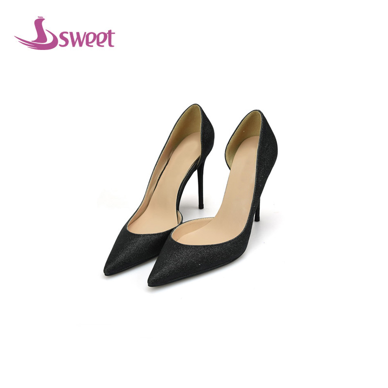 sweet Brand womens shoes woman pumps Summer Basic PU Slip-On Pointed Toe Thin Heels Fashion Shallow Party A46 2017 summer new fashion sexy lace ladies flats shoes womens pointed toe shallow flats shoes black slip on casual loafers t033109
