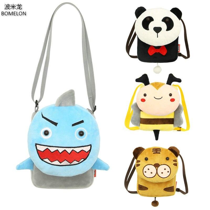 Mini Animal Plush Shoulder Bag Kawaii Baby Toy Bag Child Anime Messenger Bag Kindergarten Girls School Bags 2-6 Years Old