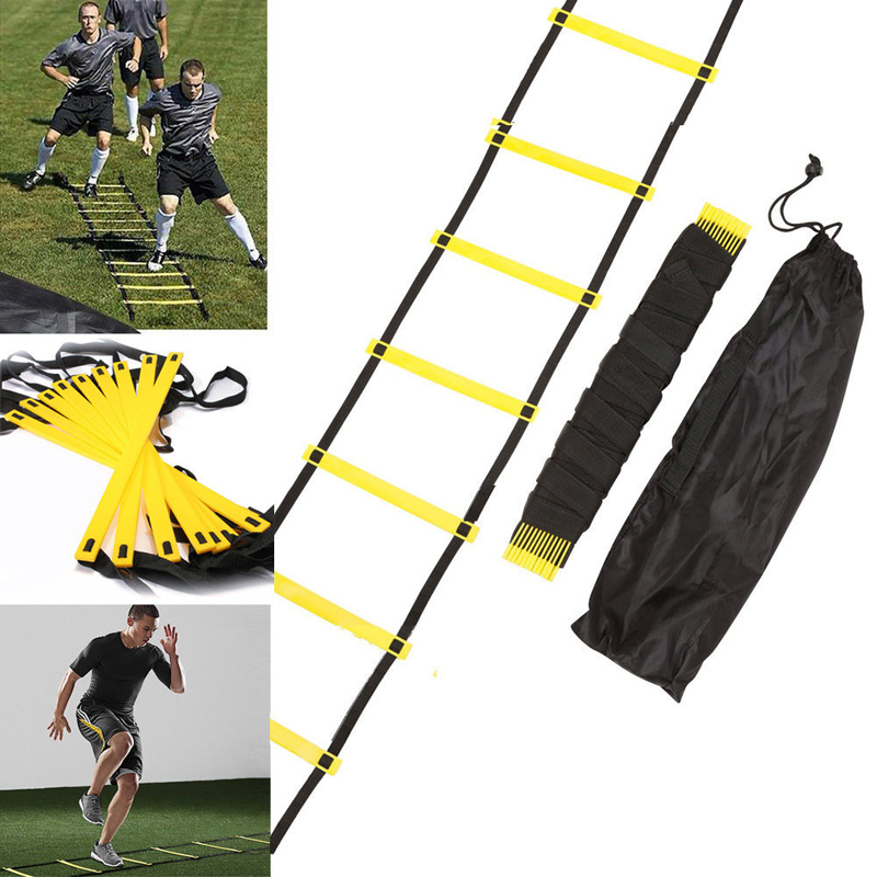 New Outdoor Fitness Equipment 10 Rung 15 Feet 5M Agility Ladder for Speed Soccer Football Fitness Feet Training With Bag motorcycle parts racing cnc aluminum adjustable hydraulic brake master cylinder reservoir colorful short levers kit black 7 8 22mm for honda rc51 rvt1000 sp 1 sp 2 2000 2006