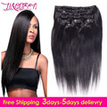 Clip In Human Hair Extensions 7A Malaysian Straight Hair Brazilian Virgin Hair Human Hair Clip Ins 120g 10 pieces/set