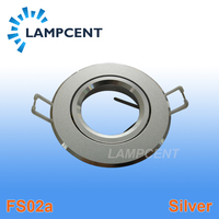 Recessed Downlight Round Fitting Adjustable Ceiling Light Brackets Silver Color