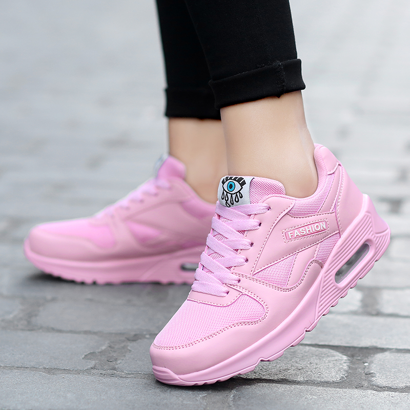 OCQBI Damping Running Shoes Female Women's Sneaker Breathable Sport Ladies Shoes Adult Tennis Shoes Cheap Pink Zapatillas Mujer