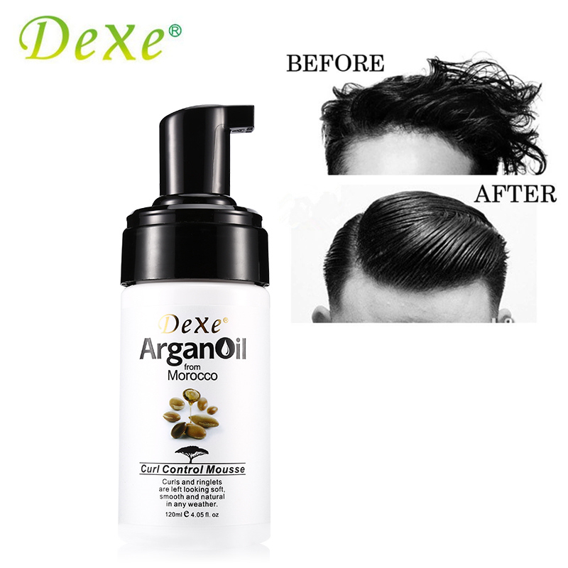 120ml Dexe Curl Control Mousse Argan Oil From Morocco Hair Care Styling Products Mousses & Foams Looking Soft Smooth and Natural ...