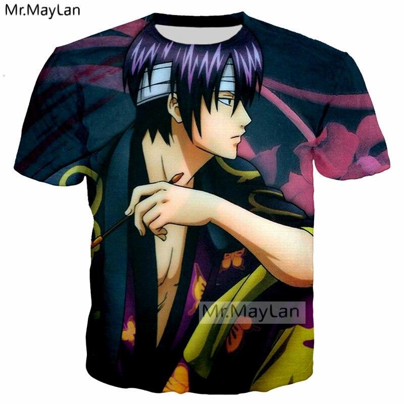 Anime GINTAMA 3D Print T Shirt Women/Men Harajuku Hip Hop Summer T-shirt Rock Tee t shirt 2018 Fashion Boys Black Clothing 5XL