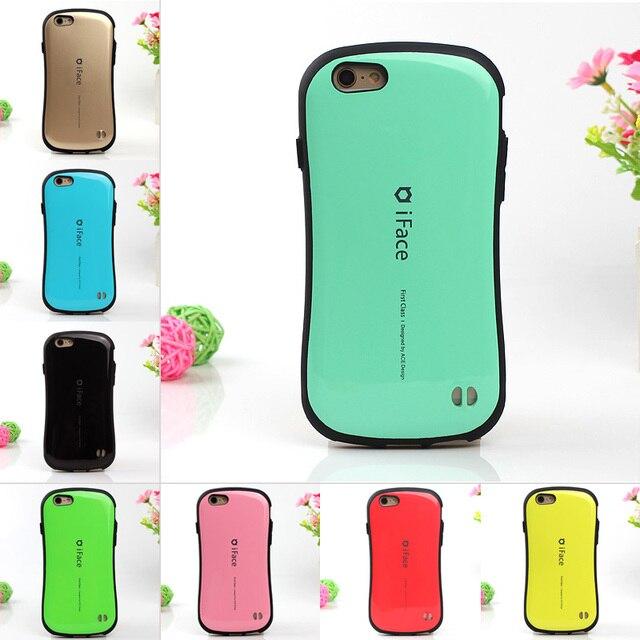 ファッションcandyカラー韓国スタイルのiface case用iphone 7 6 6 sプラス5 5 s se電話カバー耐久性のある耐衝撃pcハードバックカバー