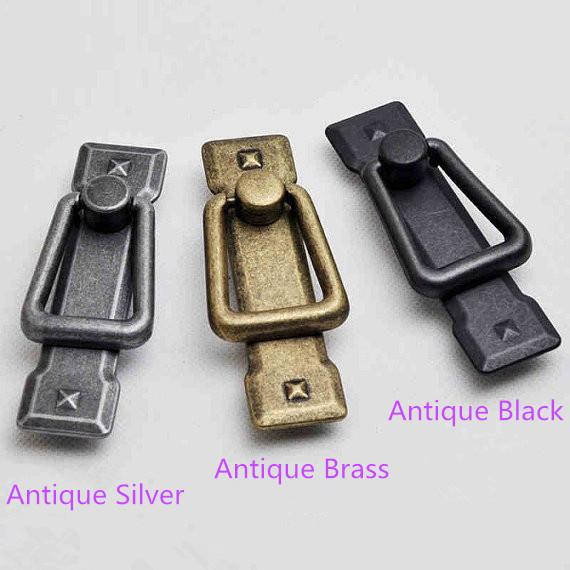 2.25 Vintage Dresser Pulls Drawer Pulls Handles Antique Brass Silver Black Vertical Square Kitchen Cabinet Door Handle Knob ceramic drawer kitchen cabinet handle knob bronze dresser cupboard door pull knob antique brass furniture wood door handles knob