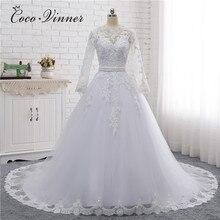 Свадебное платье с вырезом лодочкой, бисером и поясом, винтажное, 2020, Аппликации, жемчуг, кристаллы, бальное платье, свадебное платье es W0007