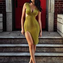 Новое летнее платье для девочек оливкового глубоким v-образным вырезом раздельное Бандажное платье Вечерние платья на прямую грузовую перевозку платье+ костюм