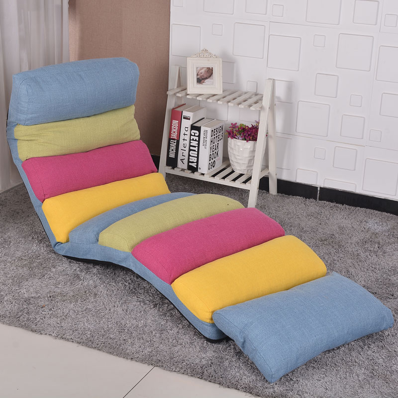 Modern Classic Chaise Lounge Sofa Chair Indoor Living Room Upholstered Lounger 6 Color Floor Folding Adjustable Bed Sleep Lounge