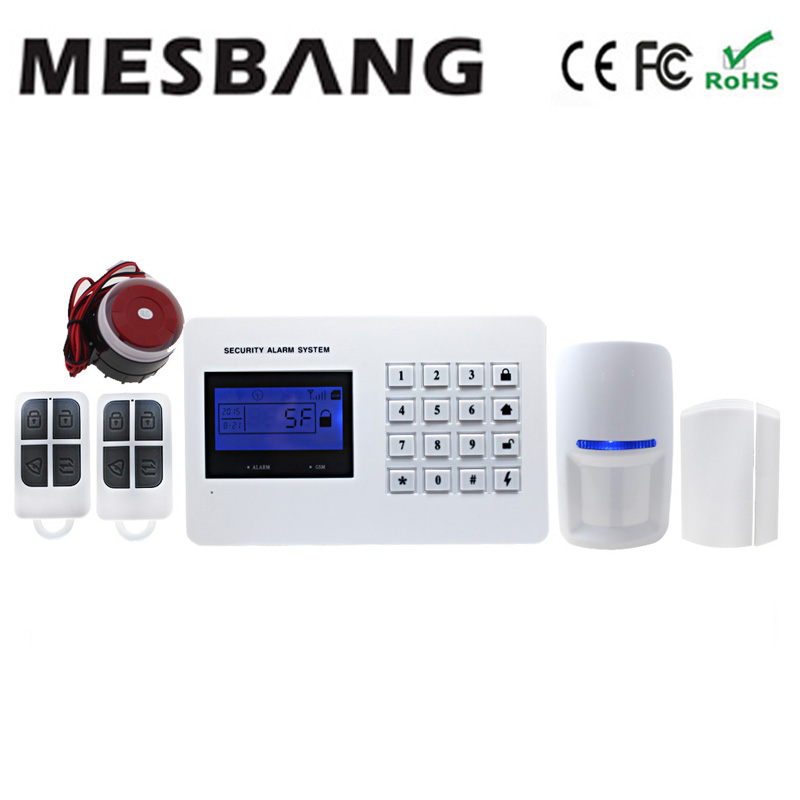 GSM alarm system home security alarm system with door sensor motion infrared APP control English Spanish Russian language option gsm alarm system with multi language english german italian dutch menu for option home security 7 inch touch screen home alarm