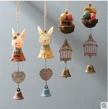 Creative cute cartoon bells hang act the role of Japanese household children room bell pendant The girl's bedroom window door цена