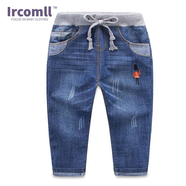 2016 Moda Outono Verão Jeans Meninos Soldado Dos Desenhos Animados Infantis Meninos Calças Crianças Jeans Crianças Calças de Brim