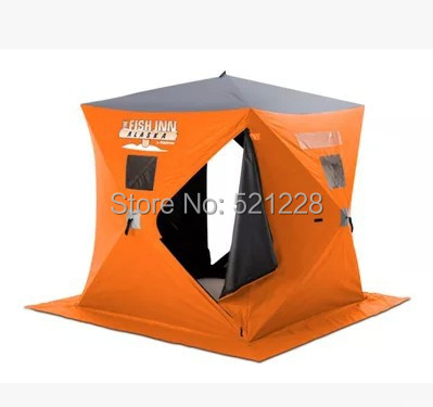 2015 hot sale 2-4 person automatic quick opening keep warm outdoor camping anti wind/cold winter beach ice fishing house tent