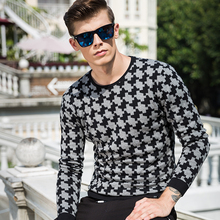 High-grade 2017 New Autumn Winter Fashion Brand Clothing Men's Sweaters Slim Fit Men Pullover Knitted Plover case Sweater Men