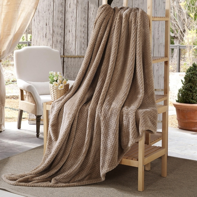 Solid Color Plush Microfiber Blankets Thicken Winter Soft Keep Warm Blanket Bedspread Home Textile Travel Sofa Throw Rug For Bed