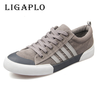 Classic Canvas Shoes Men Casual Shoes Comfortable Round Toe Lace Up Flat Shoes Fashion Breathable Wear