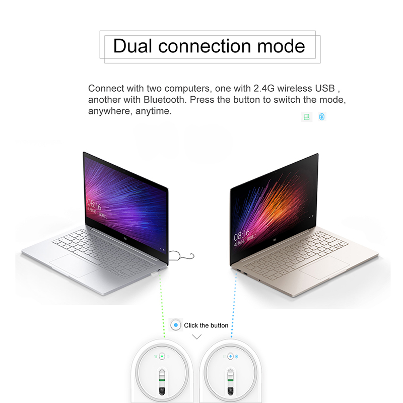 Original Xiaomi Mi Mouse Wireless Bluetooth 4.0 Mouses 2.4Ghz 1200dpi Portable Mini Gaming Mice Dual Mode for Computer Laptop