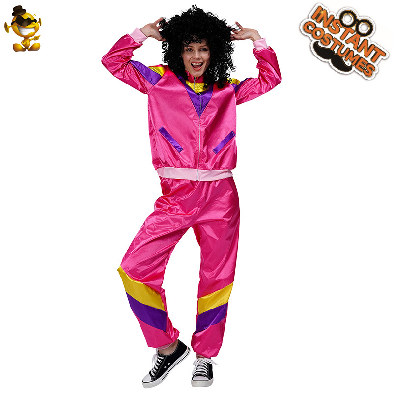 New Arrival Lady's 1980S Disco Costume Fancy Dress 70'S 80'S Disco Suit Costumes For Adult Women Halloween Costumes