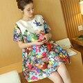 Maternidade vestidos de verão dos desenhos animados roupas soltas plus size dress para as mulheres grávidas