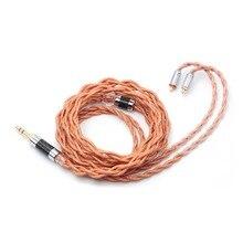 Linsoul LSC09 IEM Hi Fi обновленный кабель, 4 ядра, одна кристаллическая медь, посеребренный кабель для наушников MMCX/ 2Pin 0,78 3,5 мм 2,5 мм 4,4 мм