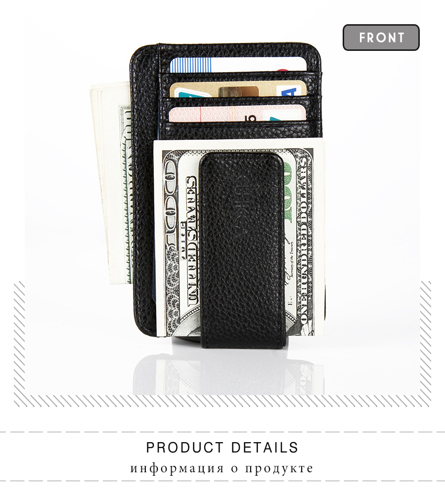 Money Clip - Ultrathin Clamp Pocket Mens Card Holder